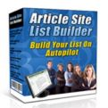 Article Site List Builder - Watch Your Mailing List Simply Build Itself